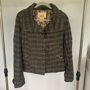 3/$20 BKE Plaid Button down Jacket